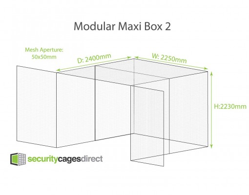 Security Cage Mesh 2400 x 2250mm