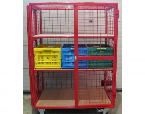 Modular Classroom Security : Tray classroom security storage cage cages