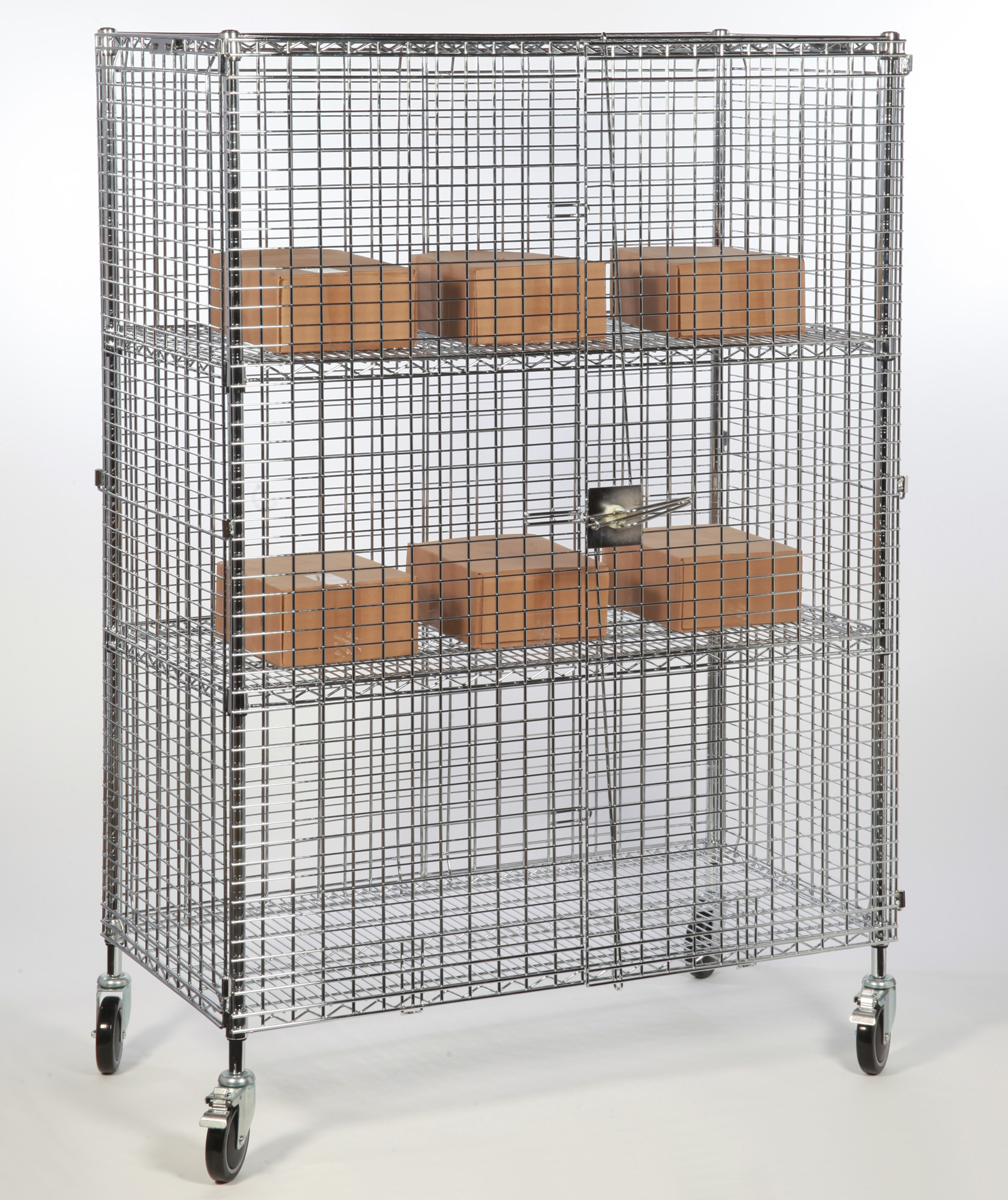 Mobile Chrome Mesh Security Cage Security Cages Direct