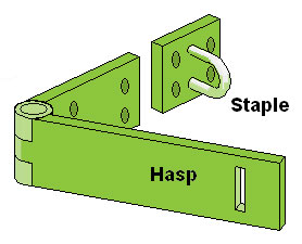 Hasp and Staple