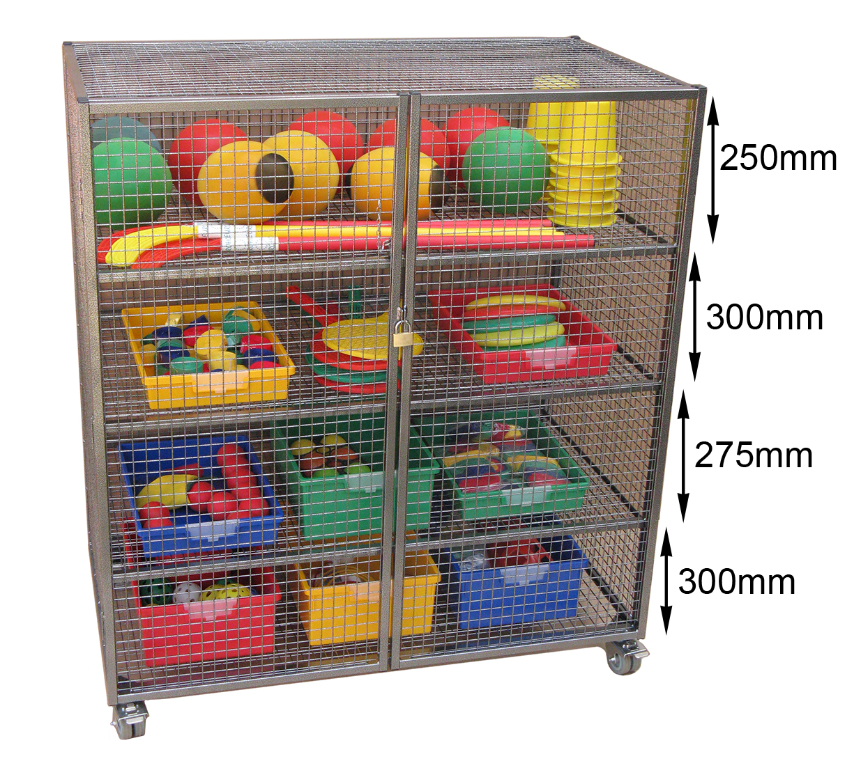 Large Lockable Storage Trolley Security Cages Direct