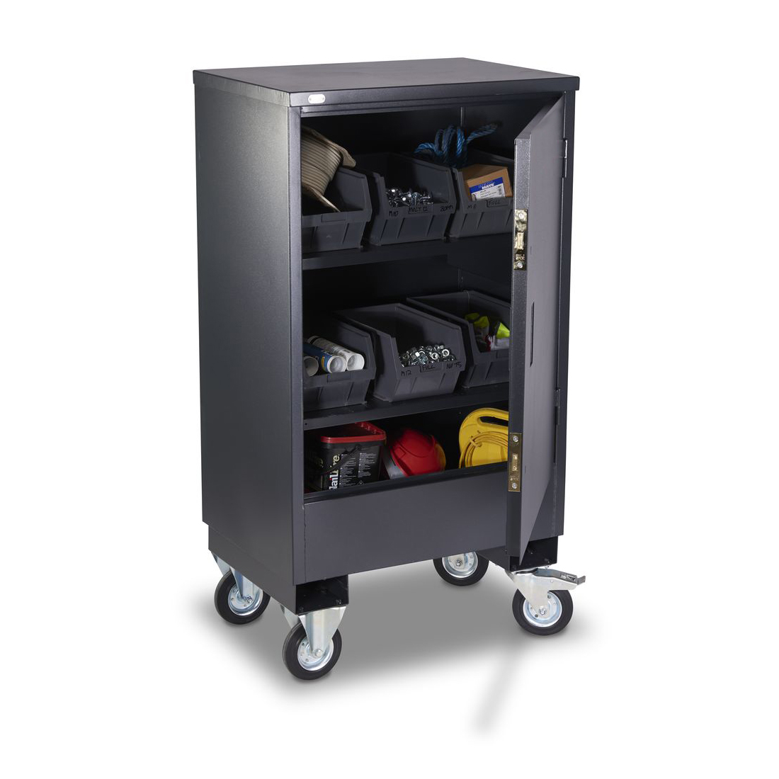 Portable Storage Cabinet Short : Mobile security cabinet small cages direct