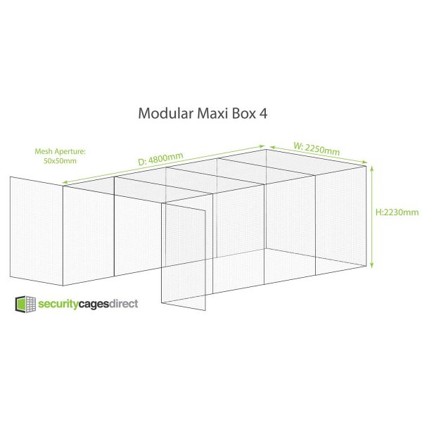 Modular Security Cage 4800 x 2250mm