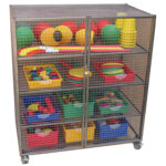 Large Lockable Storage Trolley