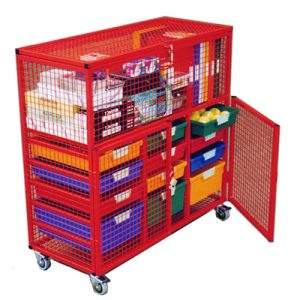 15 Tray - Classroom Security Storage Cage