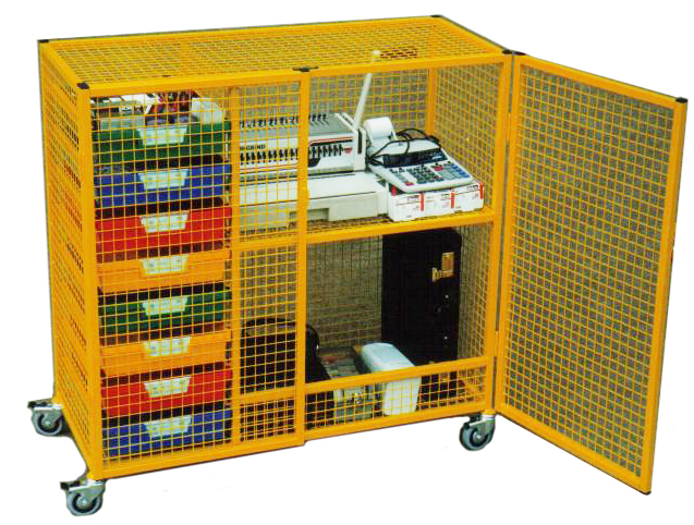 8 Tray   Classroom Security Storage Cage