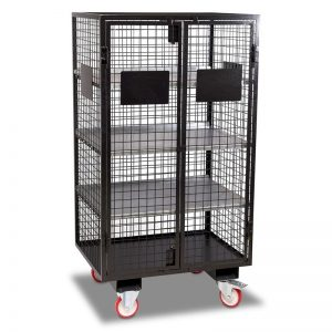 Mobile Security Cage with Forklift Pockets