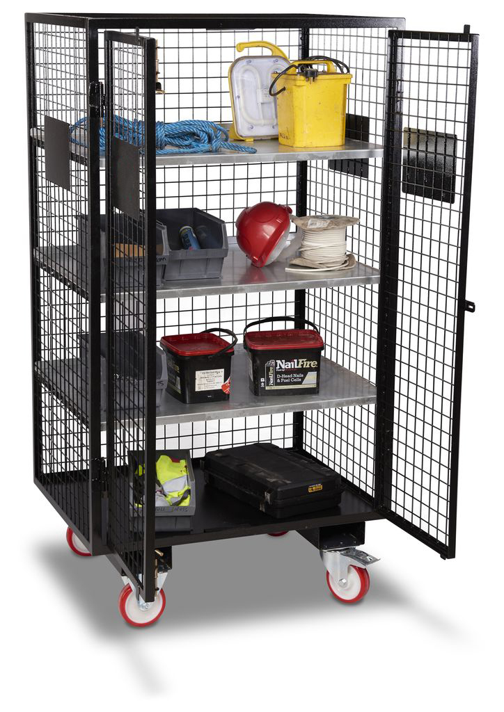 Mobile Security Cage With Forklift Pockets Security