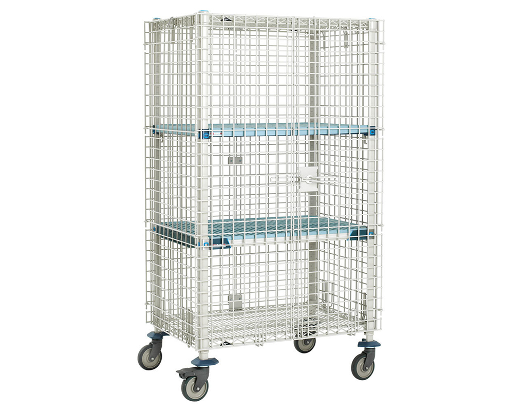 Antimicrobial Mobile Security Cage Security Cages Direct